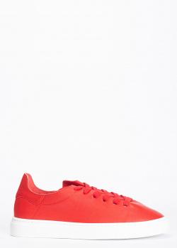 Красные кеды Stokton из мелкозернистой кожи, фото