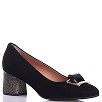 Замшевые туфли Mot-Cle на среднем каблуке, фото