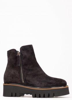 Замшевые ботинки Jeannot на толстой подошве, фото