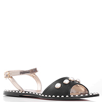 Черные сандалии Marzetti с декором-бусинами, фото