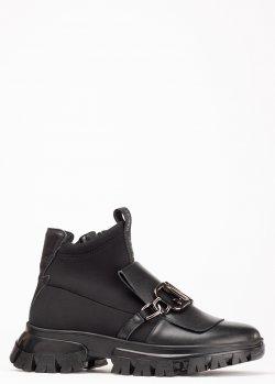 Черные ботинки Jeannot с металлическим декором, фото