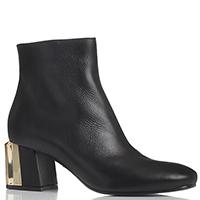 Черные ботинки из гладкой кожи Le Silla на толстом каблуке, фото