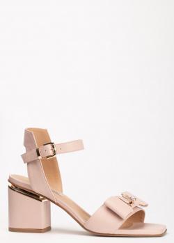 Бежевые босоножки Marino Fabiani с квадратным носком, фото
