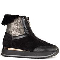 Высокие ботинки Marzetti из кожи черного цвета, фото