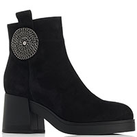 Замшевые ботинки Marino Fabiani с декором-камнями, фото