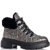 Ботинки Stokton из кожи цвета антрацит, фото