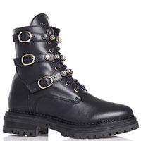 Ботинки Stokton с ремешками в стразах, фото