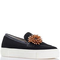 Черные туфли Alberto Gozzi из текстиля на платформе, фото