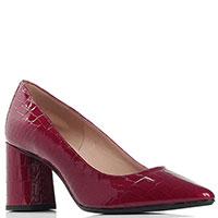 Красные туфли Status с тиснением под рептилию, фото