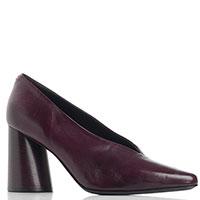 Бордовые туфли Halmanera на устойчивом каблуке, фото
