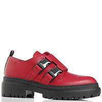 Красные ботинки Alberto Gozzi на рельефной подошве, фото