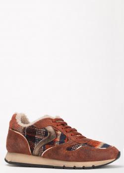 Корчневые кроссовки Voile Blanche с текстильными вставками, фото