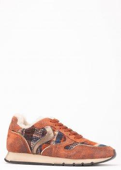 Зимние кроссовки Voile Blanche с контрастными деталями, фото