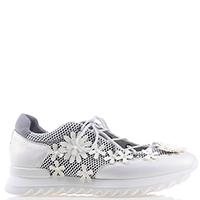 Кроссовки Alberto Gozzi белого цвета с аппликацией, фото