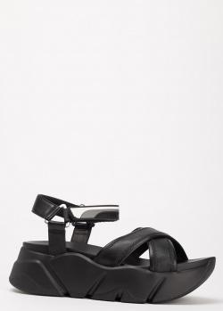 Черные сандалии Voile Blanche на толстой подошве, фото