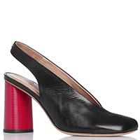 Туфли-слингбэки Halmanera с красным каблуком, фото