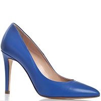 Туфли на шпильке Belotti Calzature из кожи синего цвета, фото