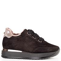 Замшевые кроссовки на меху Kelton с толстой подошвой, фото
