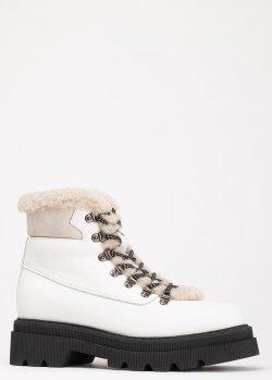 Белые ботинки Voile Blanche на толстой подошве, фото