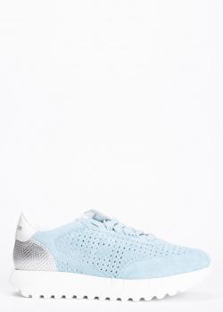 Голубые кроссовки Stokton на толстой подошве, фото