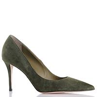 Туфли-лодочки Le Silla из замши зеленого цвета, фото