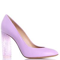 Розовые туфли Casadei на прозрачном устойчивом каблуке, фото
