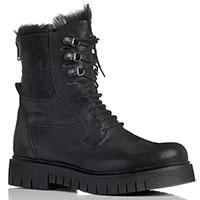 Женские ботинки черного цвета Fru.It из кожи, фото