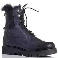 Зимние синие ботинки Fru.It на меху со стразами, фото