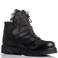 Черные ботинки Fru.It из кожи на толстой подошве, фото