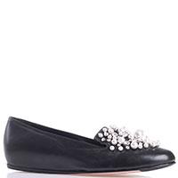 Кожаные туфли Le Silla черного цвета на скрытой танкетке, фото