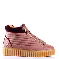 Стеганные ботинки Voile Blanche розового цвета, фото