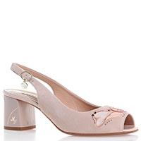 Туфли-слингбеки Marino Fabiani из замши светло-розового цвета, фото