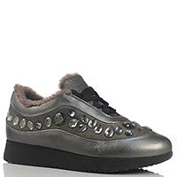 Зимние теплые кроссовки Marzetti со стразами на толстой подошве, фото