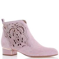 Замшевые ботинки Marino Fabiani с декоративной перфорацией, фото