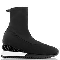 Черные ботинки Le Silla на танкетке с металлическим декором, фото