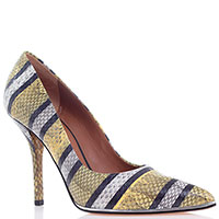 Туфли с острым носочком Givenchy из тисненной под рептилию кожи, фото