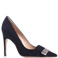 Черные замшевые туфли Sergio Rossi на шпильке, фото