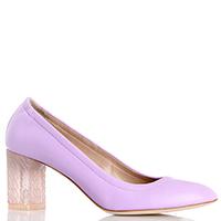Розовые туфли Casadei на среднем устойчивом каблуке, фото