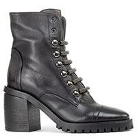 Ботинки Fru.it в черном цвете на шнуровке, фото