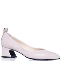 Бежевые туфли Fabi на устойчивом каблуке, фото