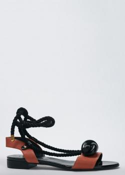 Коричневые сандалии Sonia Rykiel на завязках, фото