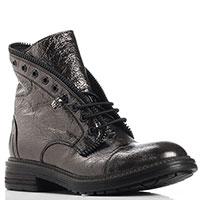 Ботинки Fru.It бронзового цвета с декором-молнией, фото