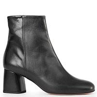Ботильоны черного цвета Danielle на среднем каблуке, фото