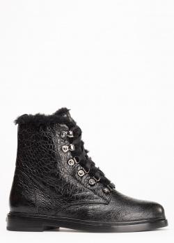 Ботинки на меху Le Silla из фактурной кожи, фото