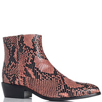 Розовые ботинки Twin-Set с животным принтом, фото