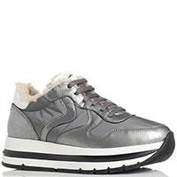 Кроссовки на меху Voile Blanche серого цвета, фото