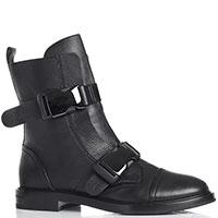 Черные ботинки Casadei с ремнями на пряжках, фото