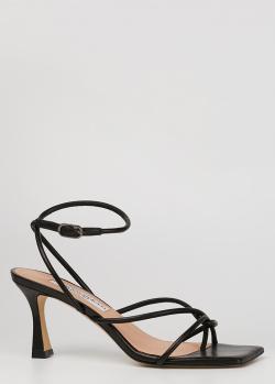 Черные босоножки Francesco Sacco с квадратным носком, фото