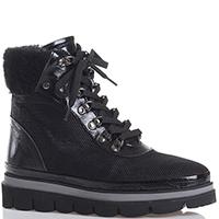 Черные ботинки Lab Milano с вставками из лаковой кожи, фото