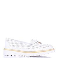 Туфли-лоферы Lab Milano белого цвета с бантом, фото